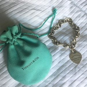 Tiffany & Co. Jewelry - Tiffany & Co. Bracelet with heart charm